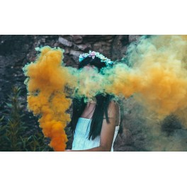 Bengalas de humo de color