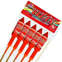 pack Cohetes Titan Color (5 unidades)