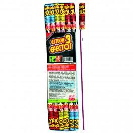 Cohetes 3 Efectos