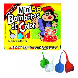 Caja de 50 Mini bombetas de colores