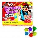 Caja de 50 Bombetas Grandes de colores